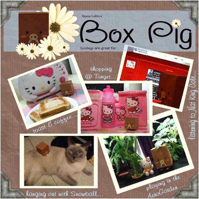 Hello Kitty Online BoxPig Papercraft