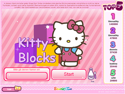 Hello Kitty Flash Game